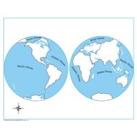 Carte vierge pour puzzle du Monde