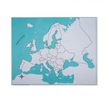 Carte Vierge Pour Puzzle De L Europe