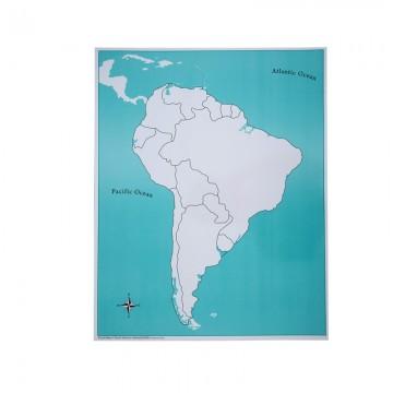 Carte Vierge Pour Le Puzzle De L Amérique Du Sud