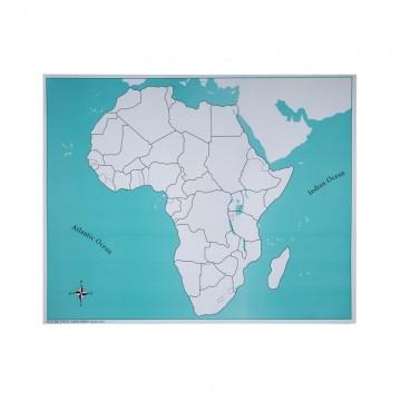Carte vierge pour le puzzle de l'Afrique