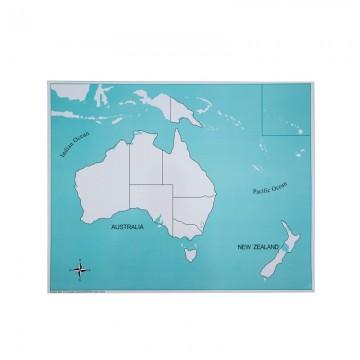 Carte vierge pour le puzzle de l'Australie