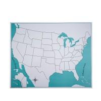 Carte vierge pour le puzzle des Etats-Unis