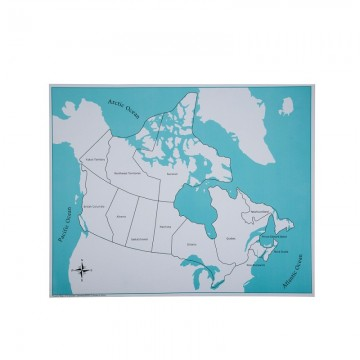 Carte de contrôle pour le puzzle du Canada