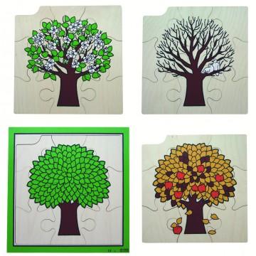 """Puzzle """"4 saisons de l'arbre"""""""