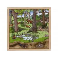 """Puzzle """"printemps-été dans la forêt"""""""