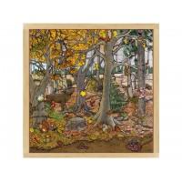 """Puzzle """"automne-hiver dans la forêt"""""""