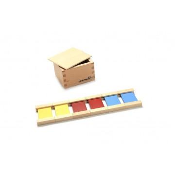 1ère boîte de tablettes de couleur en bois