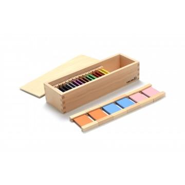 2ème boîte de tablettes de couleur en bois