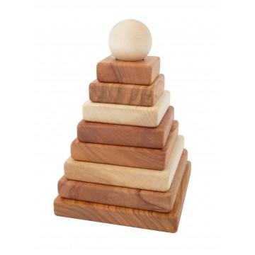 Pyramide à empiler bois naturel