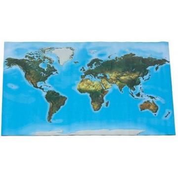 Carte géante du Monde- reliefs