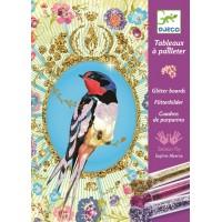 Tableaux à pailleter : Oiseaux à pailettes