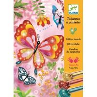 Tableaux à pailleter : Papillons à pailettes