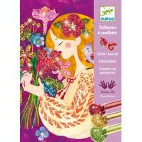 Tableaux à pailleter : Le parfum des fleurs
