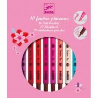 """10 feutres pinceaux - couleurs """"sucrées"""""""