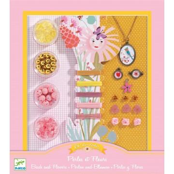 Bijoux à créer : perles et fleurs...