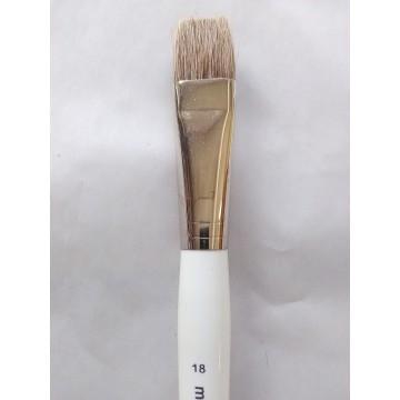Pinceau poil boeuf plat - taille 18 - manche court