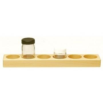 Support en bois pour 6 godets de 50 ml