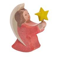 Petit ange rose avec étoile