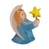 Petit ange bleu avec étoile