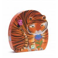 Puzzle silhouette : La balade du tigre 24 pièces