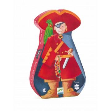 Puzzle silhouette : Le pirate et son trésor 36 pièces