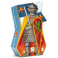 Puzzle silhouette : Le chevalier au dragon 36 pièces
