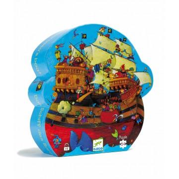 Puzzle silhouette :Bateau de Barberousse 54 pièces