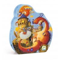 Puzzle silhouette : Vaillant et les dragons 54 pièces