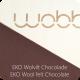 Planche Wobbel blanchie - feutrine framboise