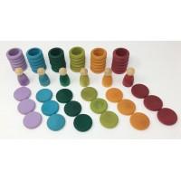 Nins®, anneaux et pièces- tons pastel