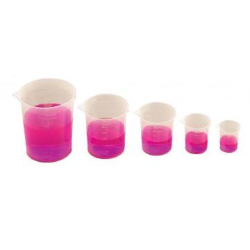 5 verres mesureurs gradués