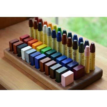Support pour 24 blocs et 24 crayons de cire