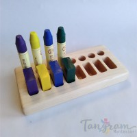 Support pour 8 blocs et 8 crayons de cire