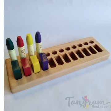 Support pour 12 blocs et 12 crayons de cire