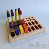 Support pour 16 blocs et 16 crayons de cire