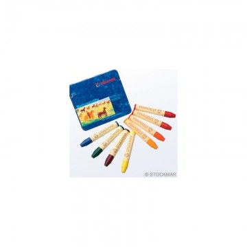 8 crayons de cire Stockmar - assortiment Waldorf sans noir