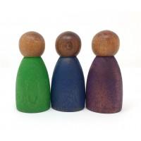 3 Nins® couleurs froides - bois foncé