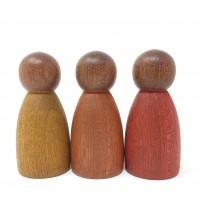 3 Nins® couleurs chaudes - bois foncé