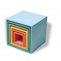 Ensemble de 6 boîtes-grand modèle-tons pastel