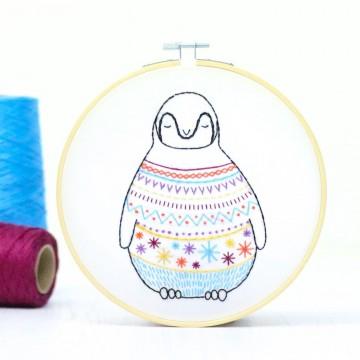 "Kit de broderie ""Pingouin"""