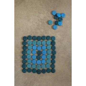 Mandala petites pièces bleues
