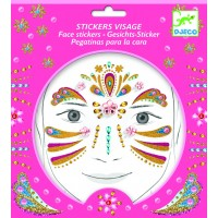 "Stickers visage "" Princesse or"""
