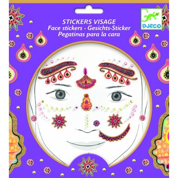 "Stickers visage "" Princesse India"""