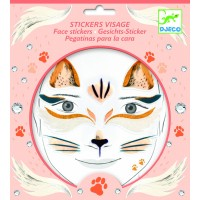 "Stickers visage ""Chat"""