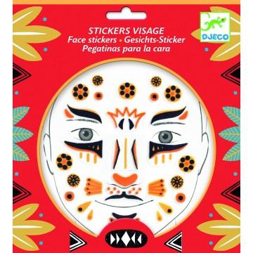"Stickers visage ""Léopard"""