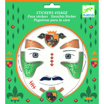 "Stickers visage ""Chevalier"""