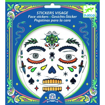 "Stickers visage ""Tête de mort"""