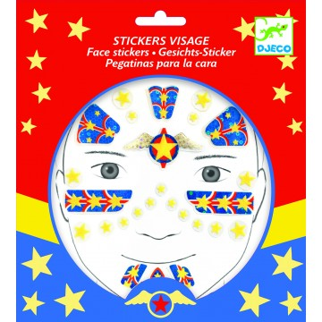 "Stickers visage ""Super héros"""