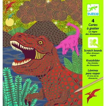 Cartes à gratter : Le règne des dinosaures