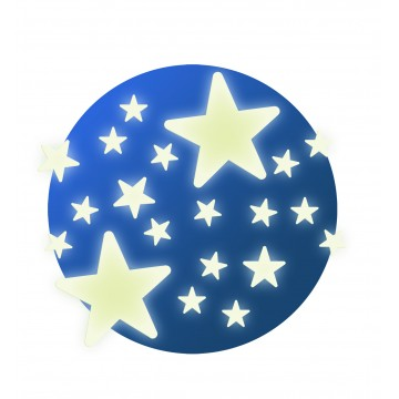 Stickers muraux phosphorescents : Etoiles